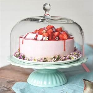 Tortenplatte Mit Fuß : ib laursen tortenplatte mynte in mintgr n mit glashaube cake stands bei home of cake ~ Frokenaadalensverden.com Haus und Dekorationen