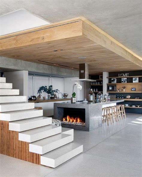 modern kitchen island modern kitchen island with fireplace cocina