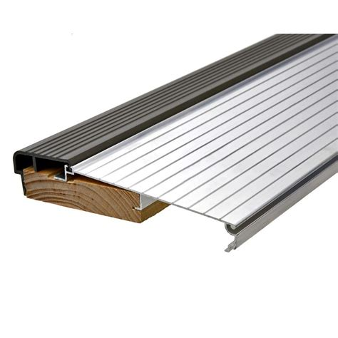 door threshold replacement king e o 5 5 8 in x 3 ft silver brown fixed sill
