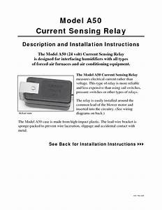 Current Sensing Relay A50 Manuals