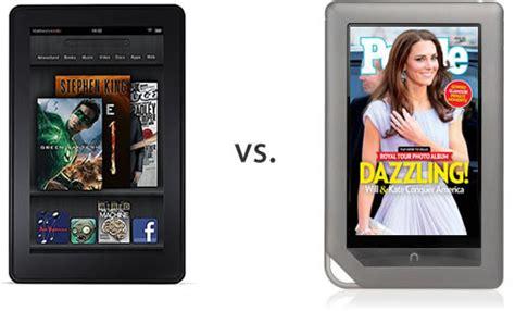 kindle barnes and noble b n nook tablet vs kindle comparison stuff