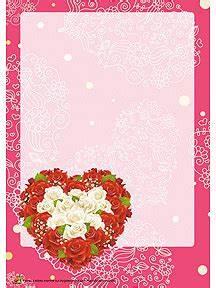 Couronne En Papier à Imprimer : joli papier lettre avec une couronne de roses et en forme de c ur imprimer cartes papier ~ Melissatoandfro.com Idées de Décoration