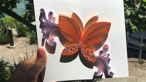 how to make an easy quilling butterfly card