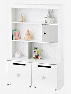 Kinderzimmer Regal Weiß : vertbaudet hohes kinderzimmer regal sirius in wei grau ~ Orissabook.com Haus und Dekorationen