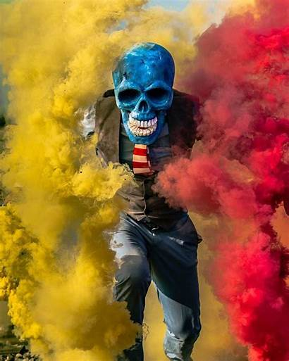 Skeleton Butch Locsin Smoke Skull Cool Performance