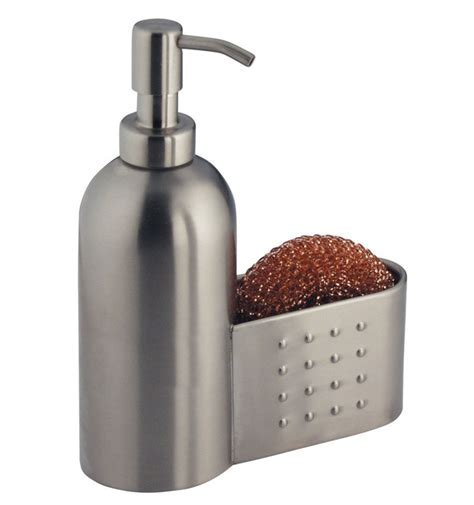 Stainless Soap Pump with Sponge Holder in Soap Dispensers