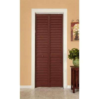 louvered interior doors home depot home fashion technologies 18 in x 80 in 3 in louver panel cherry composite interior bi fold