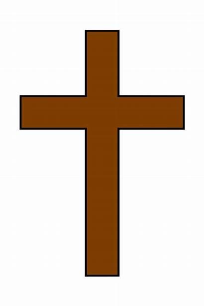 Cross Clip Symbol Brown Clipart Cartoon Christian
