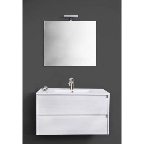 Composizione Bagno Moderno Composizione Bagno Moderno Bianco Sospeso Luce Led