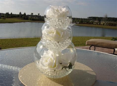 white flower diy wedding centerpiece water beads design