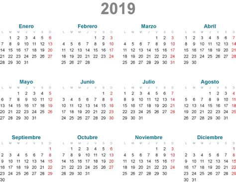 simples calendarios en espanol vector vector clipart