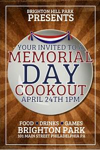 Memorial Day Cookout Template