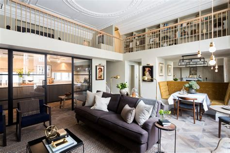 Amazing Loft Apartment Inside 19th Century Building by Stylishly Renovated Pied 192 Terre At Lancaster Gate In