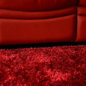 tapis sunny shaggy poils longs rouge tapis shaggy a With tapis de marche avec canapé velours ikea