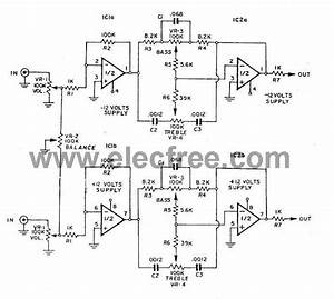 Three circuits of preamp tone controls by ne5532 circuit for Tone control stereo bass treble by ic ne5532 x2