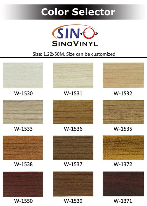 pvc wood grain texture decoration  adhesive vinyl film