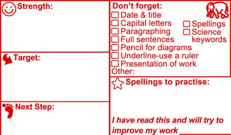 teacher stamp science strengthtargetnext stepliteracy