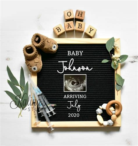 ivf letterboard pregnancy announcement  social media