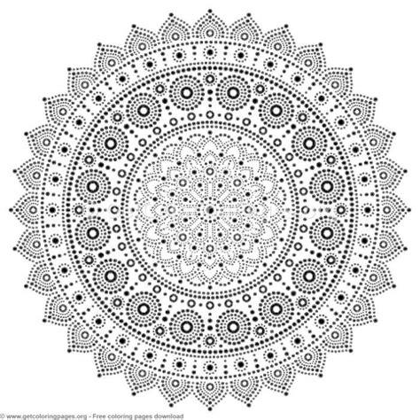 mandala dot painting coloring pages getcoloringpagesorg