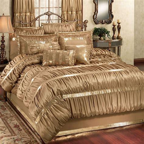 gold comforter set splendor shirred faux silk gold comforter bedding