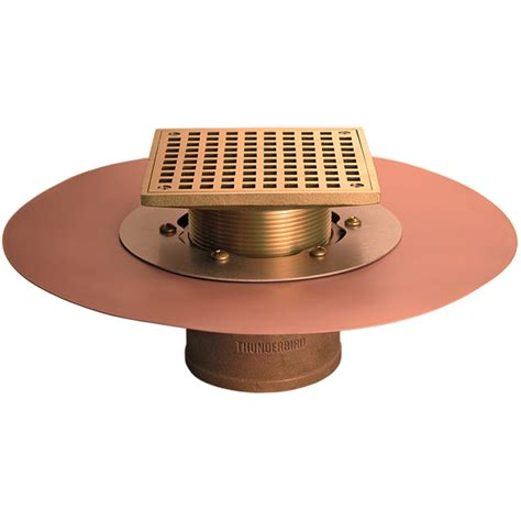 thunderbird copper deck drains large commercial deck drain for use with tile and