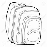 Bag Outline Sketch Drawing Icon Bags Coloring Template Messenger Jonge Het Luggage Sketches Grappige Hoogste Samenstelling Tijdschriftdekking Meningsvlakte Legt Uitstekende sketch template