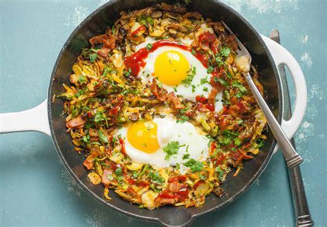 crispy brussels sprouts breakfast skillet recipe macheesmo