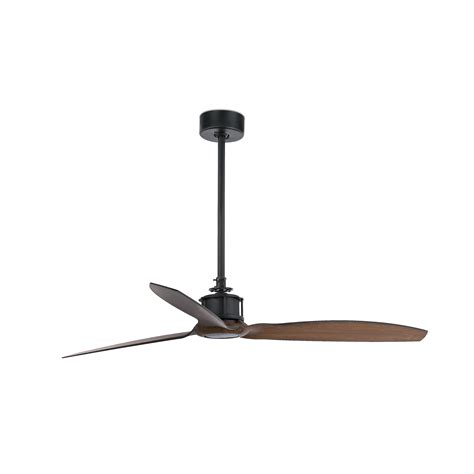 just fan black wood ceiling fan with dc motor faro