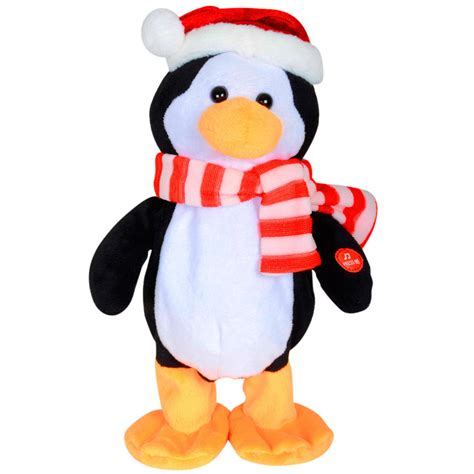 animated plush dancing musical penguin christmas decoration