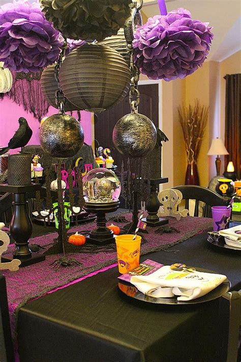purple and orange decorating ideas purple and black halloween i like the escape from traditional orange and black halloween