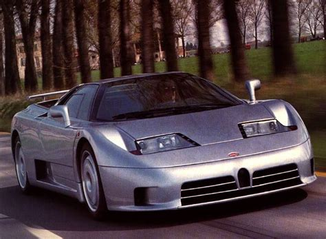 This video includes a top speed run, an acceleration run, some racing with other. 1992 Bugatti EB110 GT Image