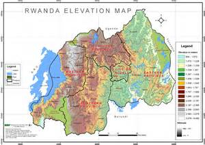 Rwanda Elevation Map