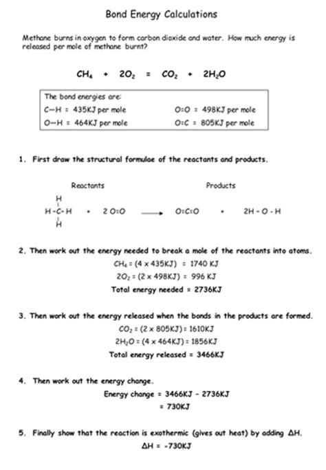 bond energy by chemistry teacher teaching resources