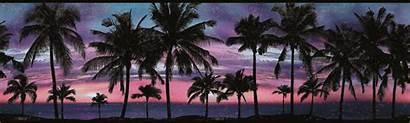 Border Paradise Borders Pink Palm Mural