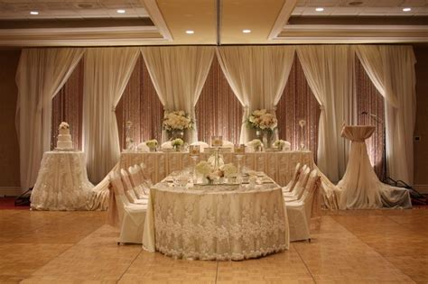 Layered #wedding backdrop with exquisite lace #headtable #