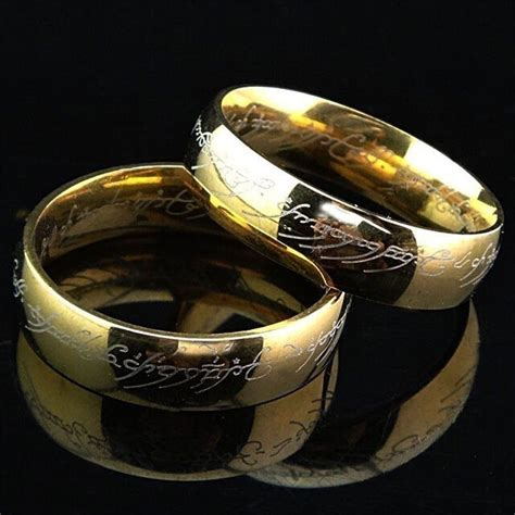 lord of the rings hobbit the one ring lotr titanium steel wedding aragon ring ebay