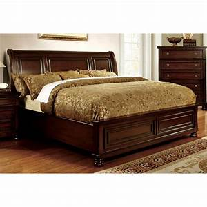 Furniture, Of, America, Caiden, Wood, California, King, Platform, Bed, In, Cherry