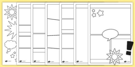 Comic Book Template Blank Comic Book Templates Comic Comic Books Writing