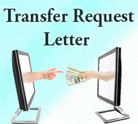 transfer request letter  letters