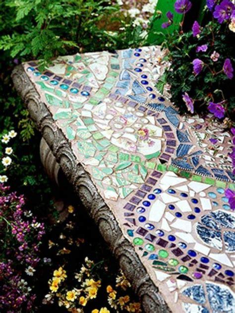 Frische Wanddekoration Mit Pflanzenneue Spiegel Blumentopf by Mosaik Im Garten 13 Bezaubernde Designs Mit Schwung
