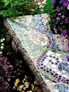 Mosaik Selber Fliesen Auf Altem Tisch : mosaik im garten 13 bezaubernde designs mit schwung ~ Watch28wear.com Haus und Dekorationen
