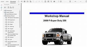 2009 Ford F250 F350 F450 F550 Repair Manual