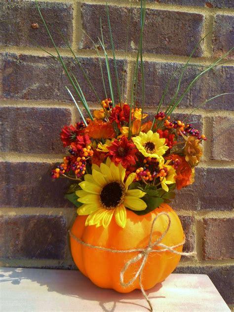 fall arrangements with pumpkins foam pumpkin fall floral arrangement fall holiday decorating ideas pinterest