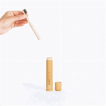Zero Toothbrush Bamboo Holder Travel