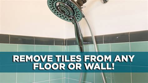 remove  tile   floor  wall youtube