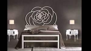 lits modernes en metal idees pour la decoration chambre With deco chambre lit noir