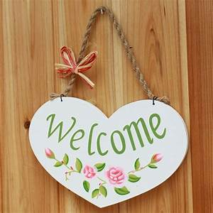 Country, Style, Welcome, Sign, Wood, Shelf, Creative, Decorative, Plates, For, Wall, Hanging, Zakka, Home