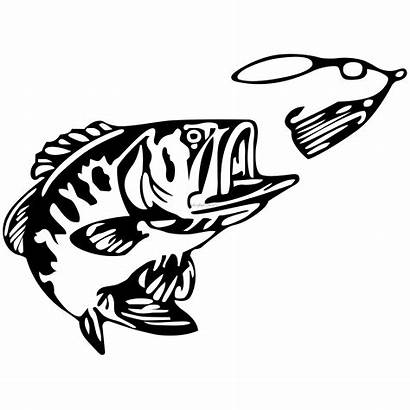 Bass Fishing Fish Decals Boat Decal Clipart