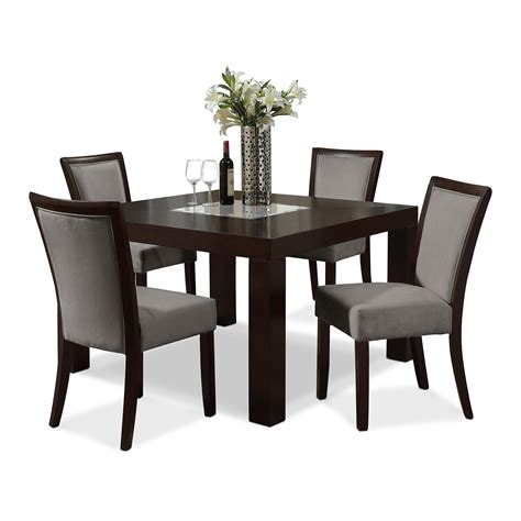 black dining room table dining room black leather chairs and elegant table by