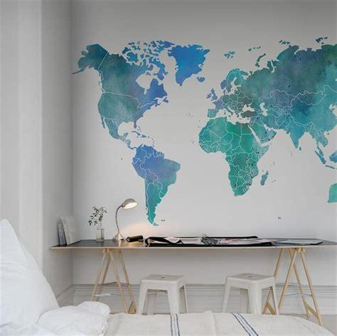 les 25 meilleures id 233 es de la cat 233 gorie carte murale du monde sur peintures murales